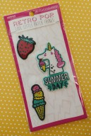 Adorable summer-themed patches (that can stick or be sewn!)