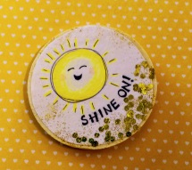 A Jess Vonn-crafted sunshiney magnet