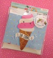 This too-cute ice cream cone notebook.